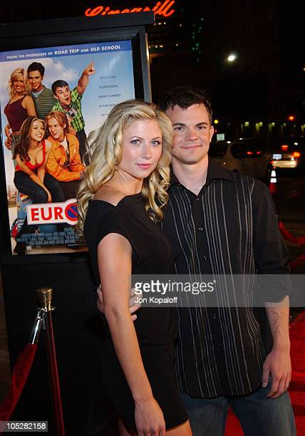 Molly Schade and Trevor Wester during Eurotrip Los Angeles Premiere Red Carpet Arrivals at Grauman's Chinese Theatre in Hollywood California United...