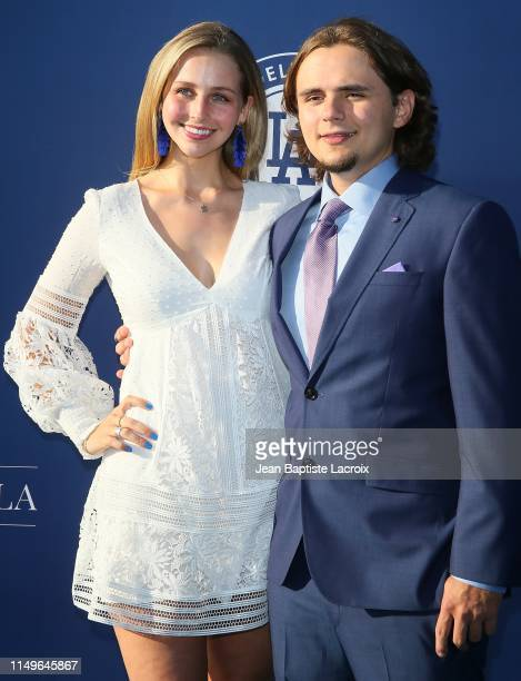 Molly Schirmang and Prince Jackson attend the 5th Annual Blue Diamond Foundation at Dodger Stadium on June 12 2019 in Los Angeles California