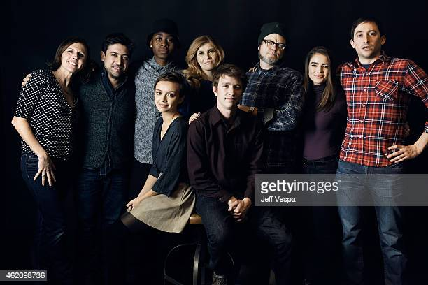 Molly Shannon Alfonso GomezRejon RJ Cyler Olivia Cooke Connie Britton Thomas Mann Nick Offerman Katherine C Hughes and Jesse Andrews from 'Me Earl...