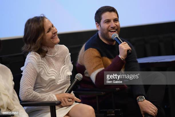 Molly Shannon and Adam Pally speak at the The Little Hours Screening at the Alamo Drafthouse Theate on May 20 2017 in New York City