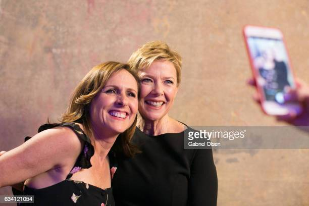 Molly Shannon and Annette Bening attend the 16th Annual AARP The Magazine's Movies For Grownups Awards at the Beverly Wilshire Four Seasons Hotel on...