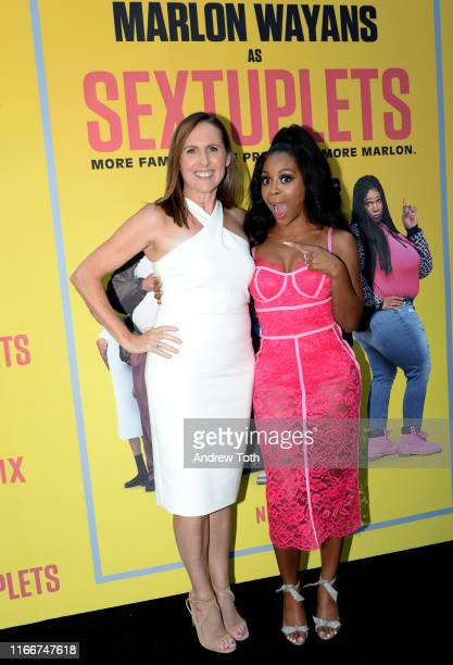Molly Shannon and Bresha Webb attend the Netflix World Premiere Of 'SEXTUPLETS' at The Arclight Hollywood on August 07 2019 in Hollywood California