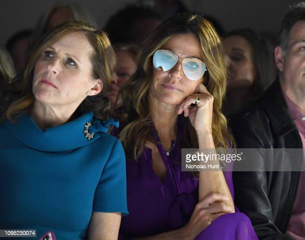 Molly Shannon and Kelly Killoren Bensimon attend the Badgley Mischka front row during New York Fashion Week The Shows at Gallery I at Spring Studios...