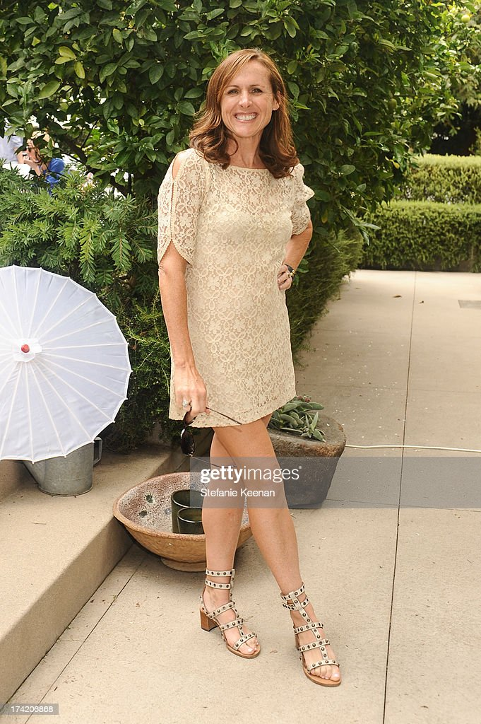 Molly Shannon attend LAXART 2013 Garden Party on July 21, 2013 in Los Angeles, California.