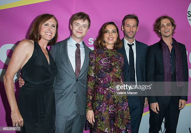 Molly Shannon Dane DeHaan Aubrey Plaza Jeff Baena and Matthew Gray Gubler arrive at Sundance NextFest Film Festival Premiere Of Life After Beth at...