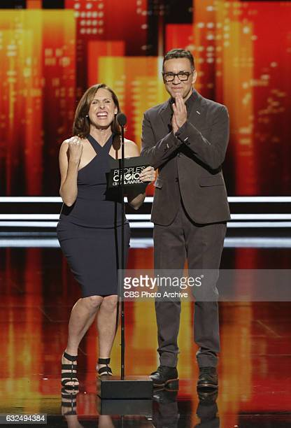 Molly Shannon, Fred Armisen during the PEOPLE'S CHOICE AWARDS 2017, the only major awards show where fans determine the nominees and winners across...
