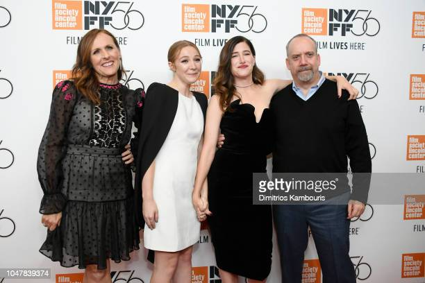 Molly Shannon Kayli Carter Kathryn Hahn and Paul Giamatti attend the Private Life premiere during the 56th New York Film Festival at Alice Tully Hall...