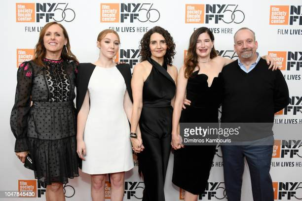Molly Shannon Kayli Carter Tamara Jenkins Kathryn Hahn and Paul Giamatti attend the Private Life premiere during the 56th New York Film Festival at...