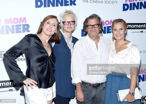 """Molly Shannon, Nancy Jarecki, Griffin Dunne and Naomi Scott attends the screening Of """"Fun Mom Dinner"""" at Landmark Sunshine Cinema on August 1, 2017..."""