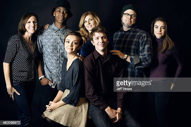 Molly Shannon RJ Cyler Olivia Cooke Connie Britton Thomas Mann Nick Offerman and Katherine C Hughes from 'Me Earl the Dying Girl' pose for a portrait...