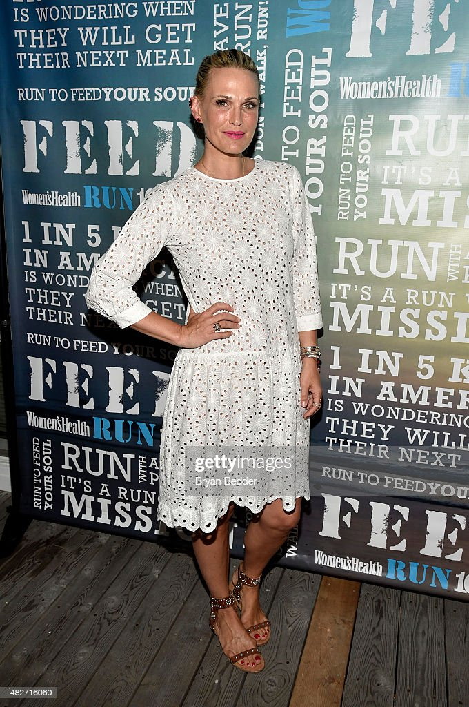 Molly Simms attends the Women's Health's 4th annual party under the stars for RUN10 FEED10 on August 1, 2015 in Bridgehampton, New York.