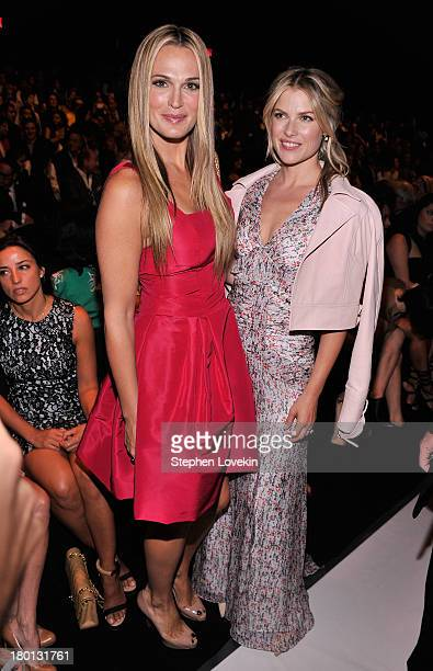 Molly Sims and Ali Larter attend the Carolina Herrera fashion show during MercedesBenz Fashion Week Spring 2014 at The Theatre at Lincoln Center on...