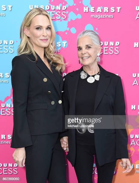 Molly Sims and Ali Macgraw attends Hearst Magazines' Unbound Access MagFront at Hearst Tower on October 17 2017 in New York City