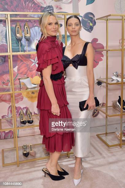 Molly Sims and Angela Sarafyan attend Sergio Rossi Elizabeth Stewart Celebrate Capsule Collection at PopUp at Westfield Century City on January 17...