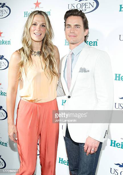 Molly Sims and Matt Bomer attend the 2013 US Open KickOff Party at PHD Rooftop Lounge at Dream Downtown on August 22 2013 in New York City