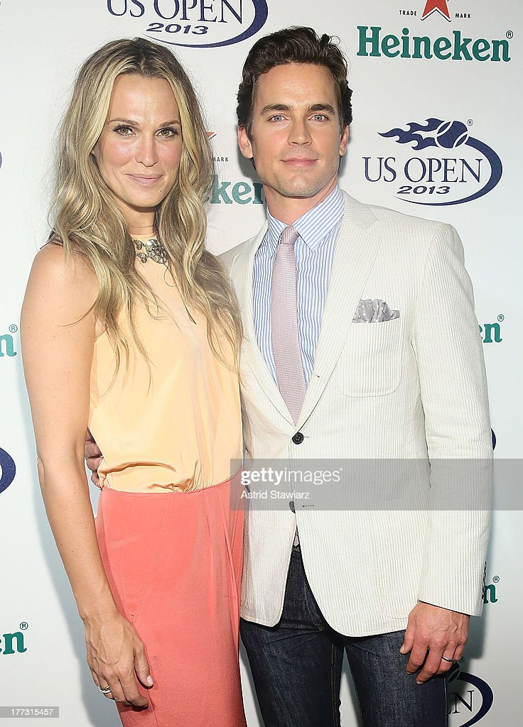 Molly Sims and Matt Bomer attend the 2013 US Open Kick-Off Party at PH-D Rooftop Lounge at Dream Downtown on August 22, 2013 in New York City.