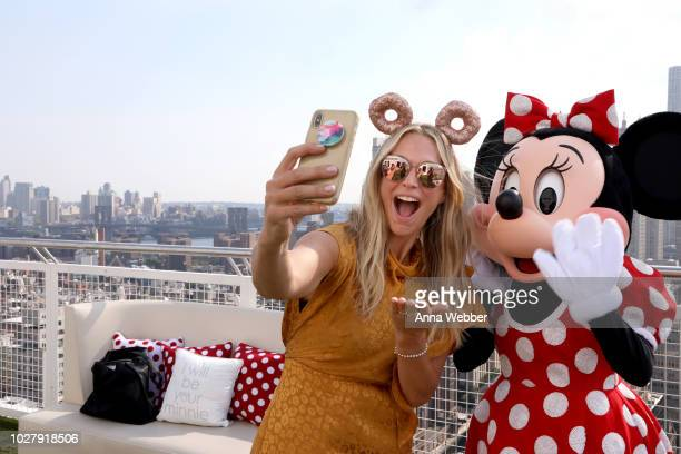 Molly Sims and Minnie Mouse attend the #MinnieStyle Suite celbrating Minnie Mouse's 90th Anniversary at Nomo Soho Hotel on September 6 2018 in New...