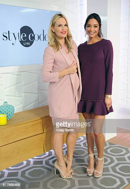 Molly Sims and Rachel Smith appear on Amazon's Style Code Live on October 25 2016 in New York City