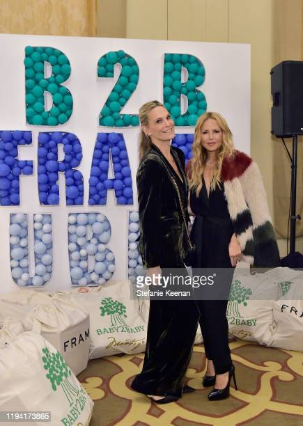 Molly Sims and Rachel Zoe attend The Baby2Baby Holiday Party Presented By FRAME And Uber at Montage Beverly Hills on December 15, 2019 in Beverly...