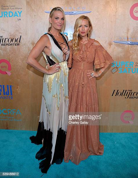 Molly Sims and Rachel Zoe attends QVC Presents Super Saturday LIVE on the Red Carpet at Barker Hangar on June 11 2016 in Santa Monica California