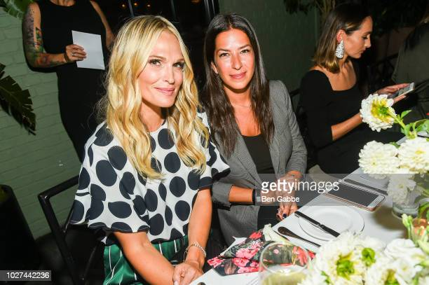 Molly Sims and Rebecca Minkoff attend Nordstrom's SOMETHING NAVY Brand Launch Dinner At The Gramercy Park Hotel on September 5 2018 in New York City