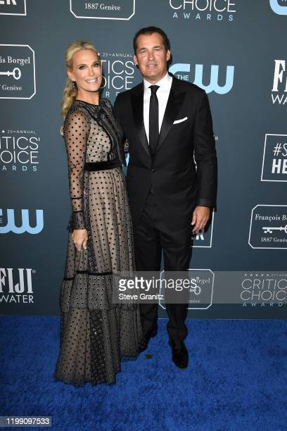Molly Sims and Scott Stuber attend the 25th Annual Critics' Choice Awards at Barker Hangar on January 12, 2020 in Santa Monica, California.
