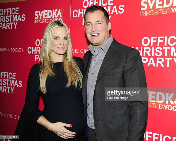 "Molly Sims and Scott Stuber attend the Paramount Pictures with Paramount Pictures with The Cinema Society & Svedka Host a Screening of ""Office..."