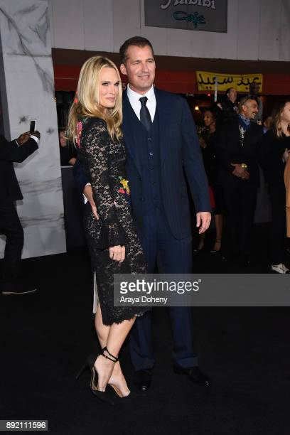 Molly Sims and Scott Stuber attend the premiere of Netflix's 'Bright' at Regency Village Theatre on December 13 2017 in Westwood California