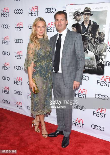 Molly Sims and Scott Stuber attend the screening of Netflix's 'Mudbound' at the Opening Night Gala of AFI FEST 2017 presented by Audi at TCL Chinese...