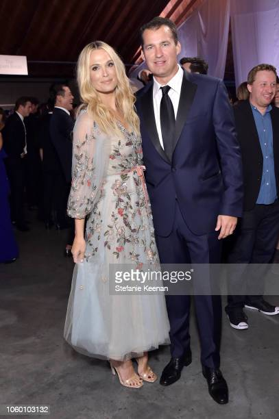 Molly Sims and Scott Stuber pose at the 2018 Baby2Baby Gala Presented by Paul Mitchell at 3LABS on November 10 2018 in Culver City California