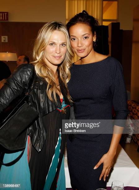 Molly Sims and Selita Ebanks attend the ultimate fashion industry executive licensing and networking program MAGIC Select hosted by Advanstar and...