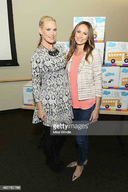 Molly Sims and Stacy Keibler attend the Yoobi Starlight Children's Foundation Give Event at Children's Hospital Los Angeles on February 4 2015 in Los...