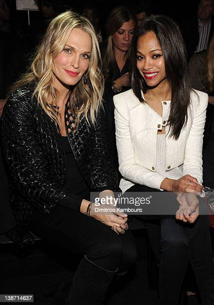 Molly Sims and Zoe Saldana at Rock Republic for Kohl's Fashion Show at Hammerstein Ballroom on February 10 2012 in New York City