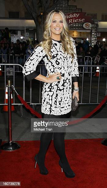 """Molly Sims arrives at the Los Angeles premiere of """"Identity Thief"""" held at Mann Village Theatre on February 4, 2013 in Westwood, California."""