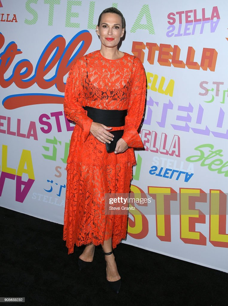 Molly Sims arrives at the Stella McCartney's Autumn 2018 Collection Launch on January 16, 2018 in Los Angeles, California.