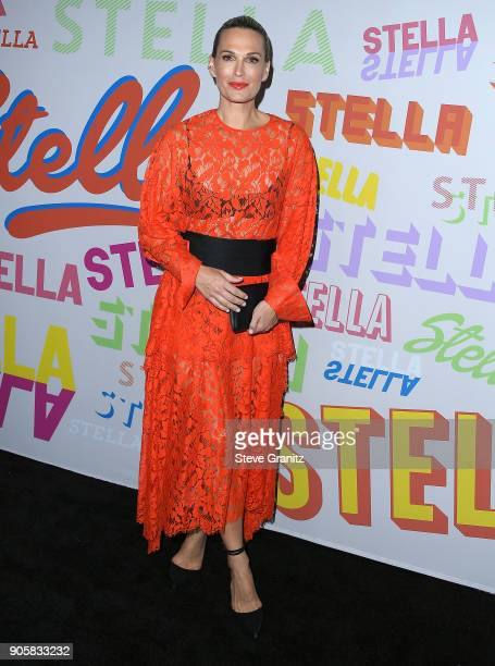 Molly Sims arrives at the Stella McCartney's Autumn 2018 Collection Launch on January 16 2018 in Los Angeles California