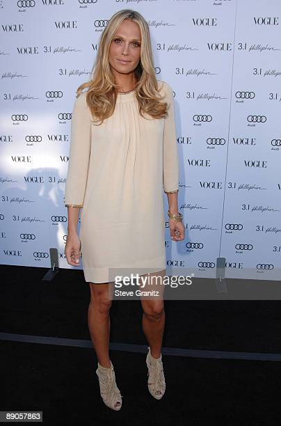 Molly Sims arrives at the Vogue's 1 Year Anniversary Party For 3.1 Phillip Lim's LA Store on July 15, 2009 in West Hollywood, California.