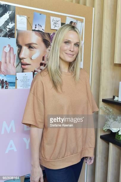Molly Sims attends Summer Fridays Skincare Launch With Marianna Hewitt Lauren Gores Ireland at Hayden on March 15 2018 in Culver City California