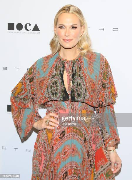 Molly Sims attends the 10th MOCA Distinguished Women In The Arts Luncheon on November 01 2017 in Los Angeles California