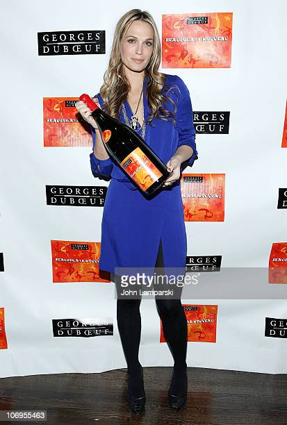 Molly Sims attends the 2010 Georges Duboeuf Beaujolais Nouveau celebration at District 36 on November 18 2010 in New York City
