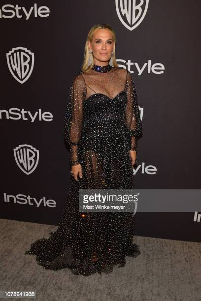 Molly Sims attends the 2019 InStyle and Warner Bros 76th Annual Golden Globe Awards PostParty at The Beverly Hilton Hotel on January 6 2019 in...