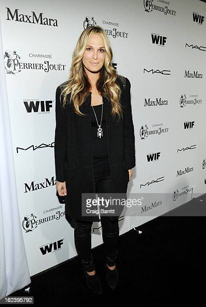 Molly Sims attends the 6th Annual Women In Film PreOscar Party hosted by Perrier Jouet MAC Cosmetics and MaxMara at Fig Olive on February 22 2013 in...