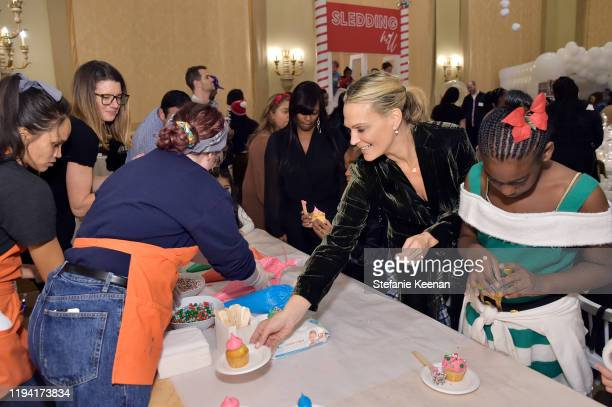 Molly Sims attends The Baby2Baby Holiday Party Presented By FRAME And Uber at Montage Beverly Hills on December 15, 2019 in Beverly Hills, California.