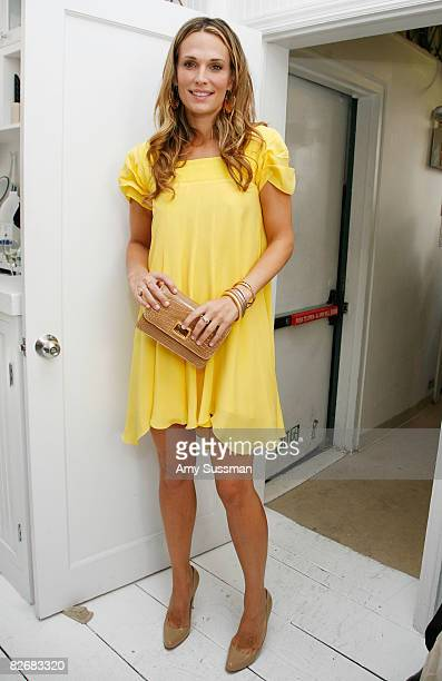 Molly Sims attends the Julie Haus Spring 2009 fashion show at Gary's Penthouse on September 5 2008 in New York City