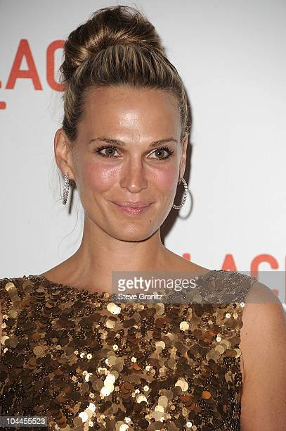 Molly Sims attends the LACMA Presents Unmasking The Lynda Stewart Resnick Exhibition Gala at LACMA on September 25 2010 in Los Angeles California