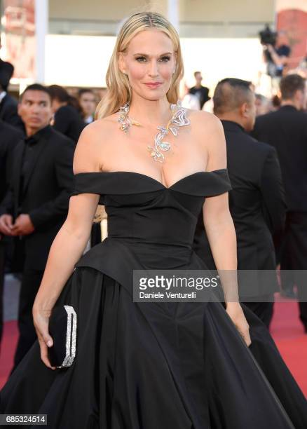 """Molly Sims attends the """"Okja"""" screening during the 70th annual Cannes Film Festival at Palais des Festivals on May 19, 2017 in Cannes, France."""
