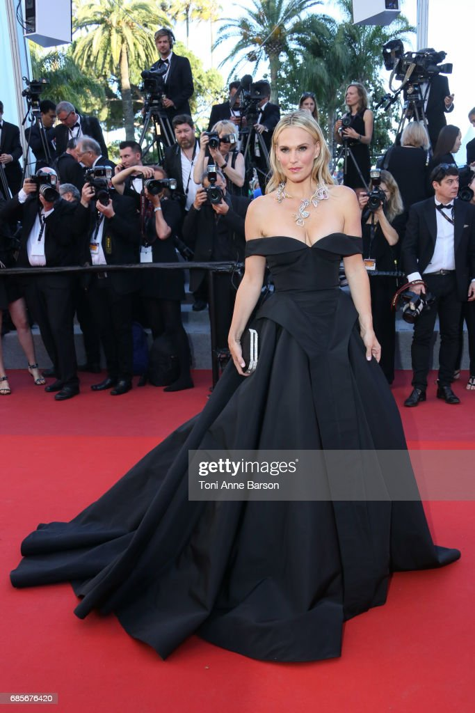 Molly Sims attends the 'Okja' screening during the 70th annual Cannes Film Festival at Palais des Festivals on May 19, 2017 in Cannes, France.