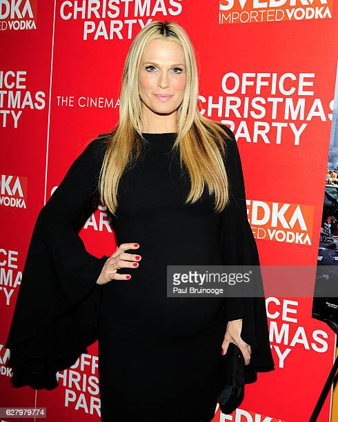 "Molly Sims attends the Paramount Pictures with Paramount Pictures with The Cinema Society & Svedka Host a Screening of ""Office Christmas Party"" at..."