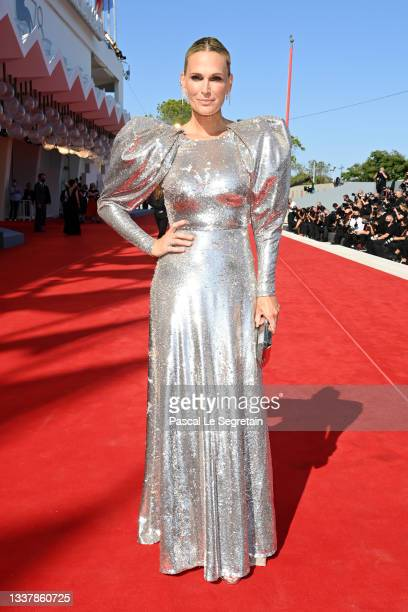 """Molly Sims attends the red carpet of the movie """"The Power Of The Dog"""" during the 78th Venice International Film Festival on September 02, 2021 in..."""