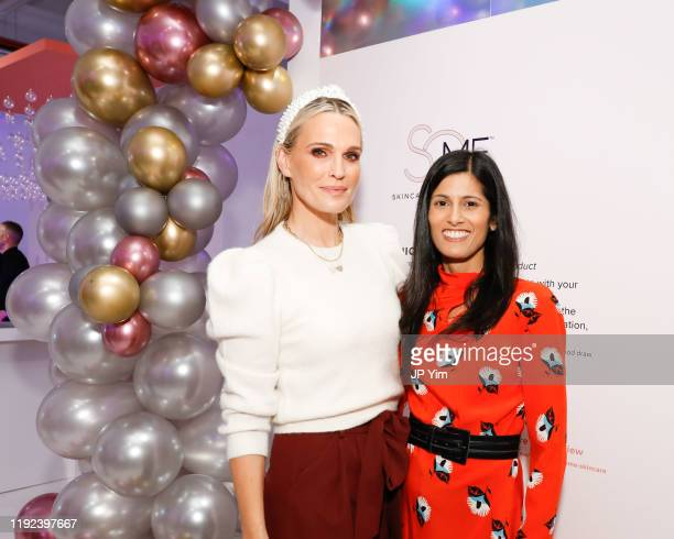 Molly Sims brand ambassador for SoME™ Skincare That's All You and Dr Sejal Shah boardcertified dermatologist attend SoME™ Skincare's announcement at...